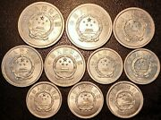 China - Republic Popular - Set Of X10 Coins 1975 To 1991 Ttb + Extremely Fine