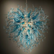 Luxury Led Chandelier Hand Blown Glass Chandeliers For Living Room Hanging Light