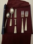 Longaberger 5 Piece Woven Traditions Flatware Silverware New In Holder