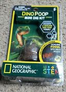 National Geographic Dino Poop Mini Dig Kit Find A Genuine Fossil Stem New