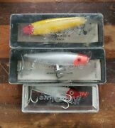 Lot Of 3 Vintage Lands 99m And 65m Mirrolure Fishing Lures - Nos Unused