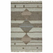 Allan Hand Crafted Wool And Cotton Area Rug