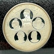 1976 Cayman Islands Fifty Dollar Six-queens Silver Proof Encased In A Book Coa