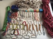 47 Piece Trad Climbing Rack Nuts Hexes Quickdraws Slings Carabiners