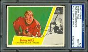 1963 Topps 33 Bobby Hull Psa/dna 9 Mint Hq Centered Card Vintage Pen Autograph