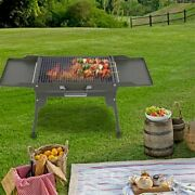 Camping Bbq Grill 2-3 Family Charcoal Barbecue Cooking Grill Picnic Accessories