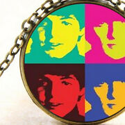 The Beatles Inspired Pendant Necklace, Rock Music Band Colourful, Unisex Gift