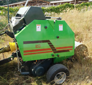 Mini Hay Net Round Silage Baler And Wrapper Roll Round Mounted Tractor Mr850 Ce