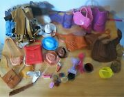 Lot Toy Horse Saddles Western Wear Horse Tack Saddle Bags And More Vintage Large