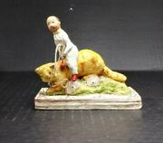 Debbee Thibault Figurine Child Riding A Cat On Wheels 225/2500 Signed Dated 00
