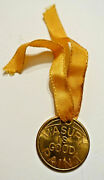 Masury Is Good Paint - Carry Me Lucky Be 25mm Brass Good Luck Token W/ribbon