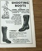 Stgun50 Advert5x4 Shooting Boots From Lionel Andrews Ltd, Flexion And Viking