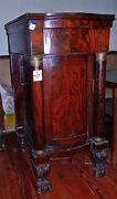 Antique Side Liquor Cabinet French Empire Style 1800and039s