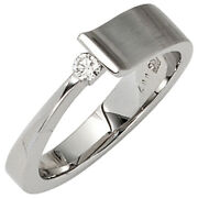 Womenand039s Ring 585 White Gold Partly Matted 1 Diamond 007ct. Ring