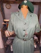 1940s/early 1950s Girl Scout Leader Uniform With Beret, Whistle, And Socks