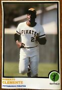 1973 Style Roberto Clemente Pittsburgh Pirates Poster Si Sports Illustrated Like