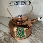 Smythe And Cook Solid Copper Handcrafted Tea Kettle