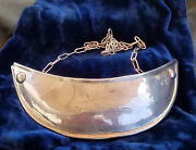 Early American Silversmith Indian Trade Gorget Beaver Engraved