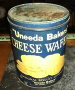 Vintage Uneeda Bakers Cheese Wafers Tin