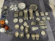 250 Vintage Metal Mini Tart Tins Fluted Chocolate Candy Dessert Molds And More