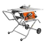 Heavy Duty 10 In. 15 Amp 5000 Rpm Portable Jobsite Table Saw With Stand And Blade