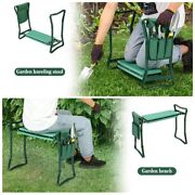 Garden Kneeler And Seat With Tool Pouch + Fiskars 3 Piece Soft Touch Garden Tool