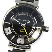 Louis Vuitton Tambour Q113i Gmt Black / Silver Dial Automatic Menand039s Watch_620738