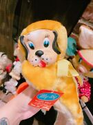 Vintage My Toy Rubber Face Dog Plush Doll Wth Tag