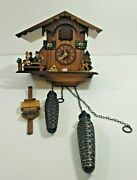 Engstler Vintage Cuckoo Wall Clock Wood Chalet Theme Battery Operated Untested