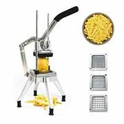 Tophort French Fry Cutter With 3 Blades Stainless Steel Vegetable Mandoline S...