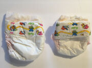 2 Vintage Plastic Backed Baby Diapers Newborn Baby Muppets Reborn