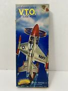 Vintage 1955 Aurora Navy Lockheed Xfv-1 V.t.o. Salmon Famous Fighters Box Only