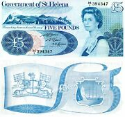 St. Helena 5 Pound Banknote World Paper Money Currency Pick P7b 1981 Bill Note