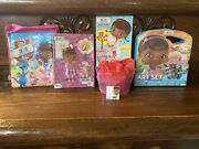 40pc Doc Mcstuffins Gift Basket Backpack Puzzle Book Toys And Jumbo Art Set