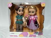 Disney Store Rapunzel And Flynn Animator Doll Set Tangled Absolutely Gorgeous 😍