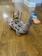 Rare Vintage 1962 Marx Fred Flinstone Riding Dino Dinosaur 24in. Toy Collectible