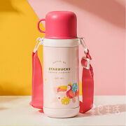 2021 China Starbucks Pink Toucan Jungle Double Lids Ss 20oz Thermos Water Bottle