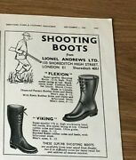 Stgun52 Advert5x4 Shooting Boots From Lionel Andrews Ltd, Flexion And Viking