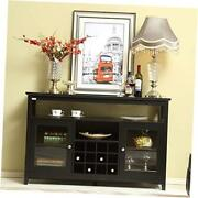 52 Concise Wooden Sideboard Wine Cabinet Buffet Table Tall Console Dining