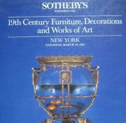 Sothebyand039s Auction Catalog 1983 Art 19th Century Furniture Decorations 5300 Ppb