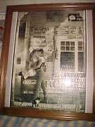 Large Vintage Country Store Romance Coca Cola Puzzle Custom Framed Matted Nice