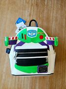New Loungefly Disney Buzz Lightyear Light Up Wings Mini Backpack Toy Story Pixar
