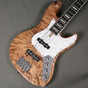 Phoenix Bomber Bass Bb-4-109 Spolted Burl Maple Top Natural Used W/soft Case
