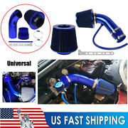 Blue Cold Air Intake Filter Induction Kit Pipe Power Flow Hose System Car Auto