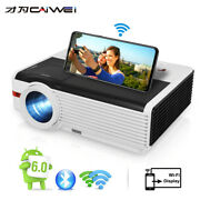 8000lumen Video Projector 1080p Android Blue Tooth Home Cinema Hdmi Usb Vga Game