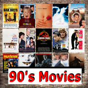 Classic 90's Movie Film Print Poster Picture Retro Vintage Posters A4-a3 Size