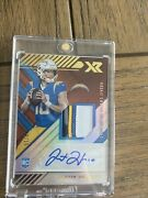2020 Justin Herbert Panini Xr Rc 9/15 Auto Rpa Rookie Patches Autographs 🔥🔥😳