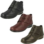 Ladies Padders Dual Fitting Casual Ankle Boots Tina