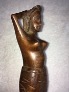 Sexy Wooden Woman Nut-cracker, 13+ Inches Long