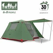 Kazoo Family Camping Tent Large Waterproof Pop Up Tents 6 Person Room Cabin Tent